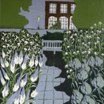 Blue twilight at Chelsea  £170 Woodcut  Edition of 4,  1 SOLD