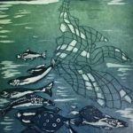 Caught in the Net £150  Etching, Edition of 25,   3 SOLD