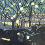 Sloane Square at Dusk £150 Woodcut, Edition of 12,  4 SOLD