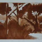 Renoir's garden  £250  Etching  Edition of 25 Raw Sienna V/E