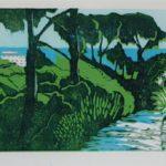 Renoir's garden, £250 Woodcut   Edition of 12, 3 SOLD